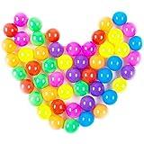 Fanuk Colorful Fun Phthalate Free BPA Free Crush Proof Balls Soft Plastic Air-Filled Ocean Ball Pit Balls for Baby Kids Tent Swim Toys Ball by Fanuk