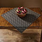 Park Designs Campbell Coverlet Table Square - Black