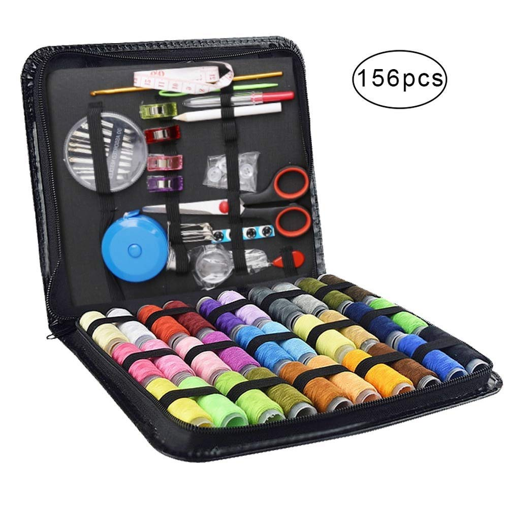 With 130 Piece Sewing Accessories TUXWANG Premium Portable Sewing Kit