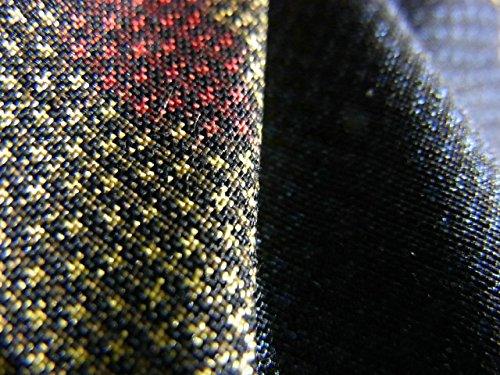 リサイクル 着物 大島紬  一元式7マルキ 抽象文様 正絹 袷 裄64.5cm 身丈157cm