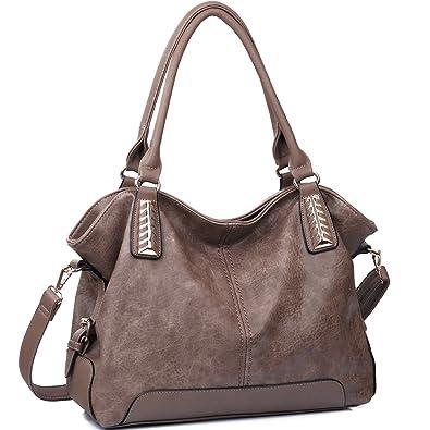 JOYSON Handtaschen Damen Hobo Taschen PU Leder Schultertaschen Große  Umhängetaschen Shopper Damen Henkeltaschen (L  323876633a