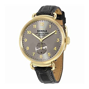 90cd34aa3f2 Amazon.com  Shinola The Canfield Cool Gray Dial Strap Mens Watch ...
