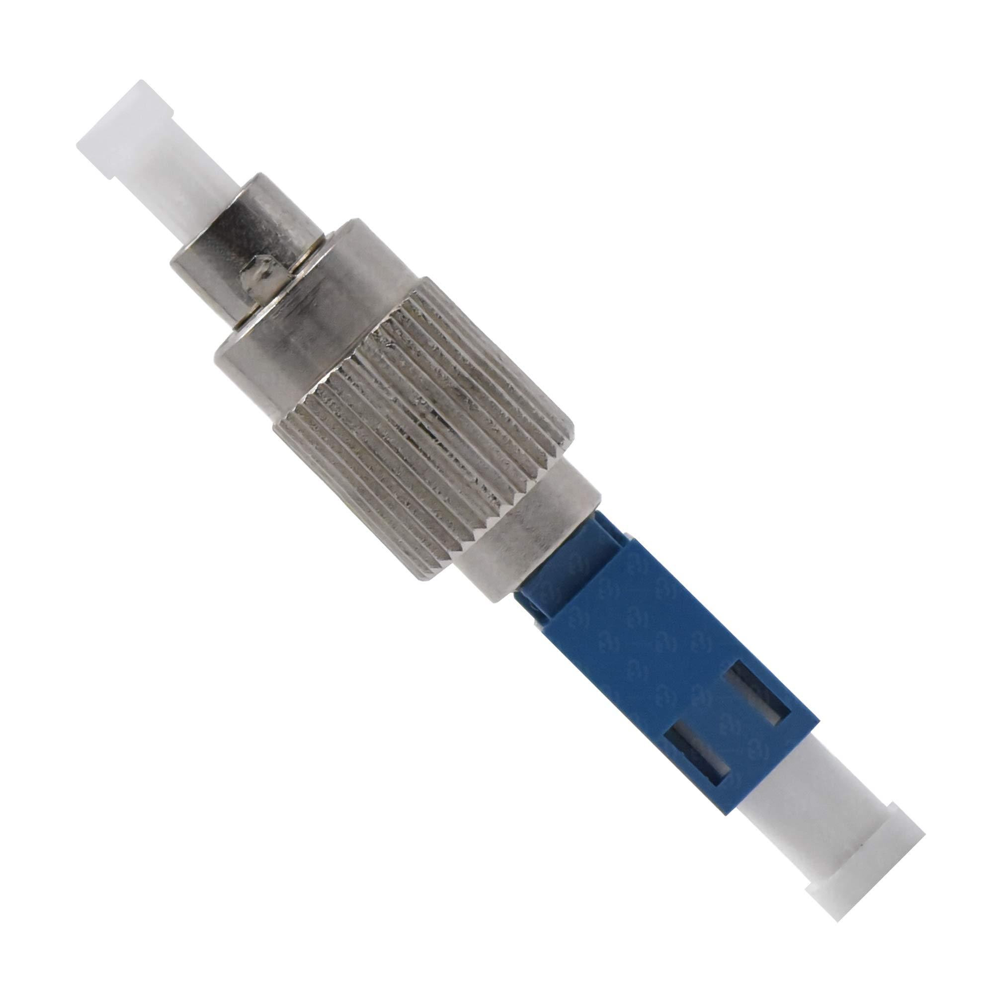 Fiber Optic LC to FC Adapter Singlemode UPC Simplex - 1 Pack - Beyondtech Visual Fault Locator (VFL) LC Female Coupler by BEYONDTECH