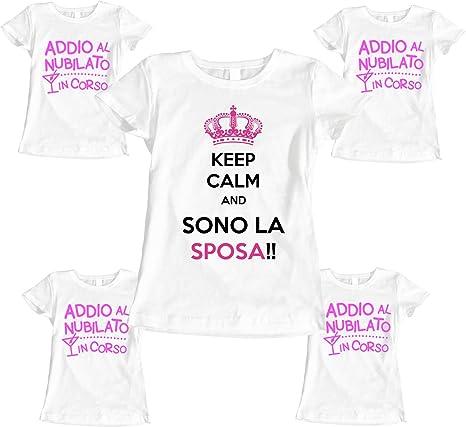 Pacchetto Tshirt Addio Al Nubilato Keep Calm Sono La Sposa