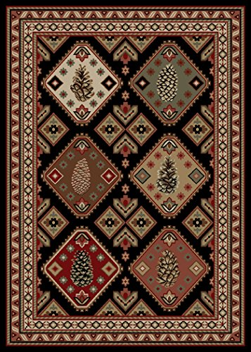 Rustic Lodge Southwest Pine 5x7 Area Rug, 5'3x7'3 (Pine Lodge Rustic)