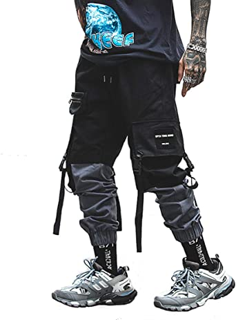 XYXIONGMAO Mens Jogger Pants Techwear Hip Hop Harem Pants Streetwear Tactical Track Pants