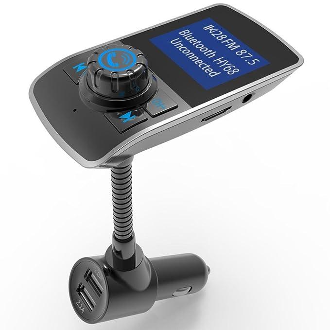 fullfun HY68 inalámbrica Bluetooth Car Kit FM Transmisor ...