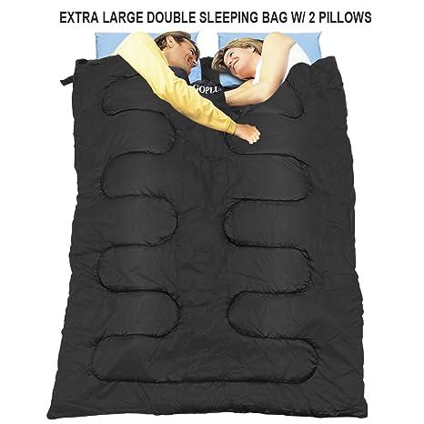 GYMAX Saco de Dormir Doble, tamaño Queen, 220 x 152 cm, para 2