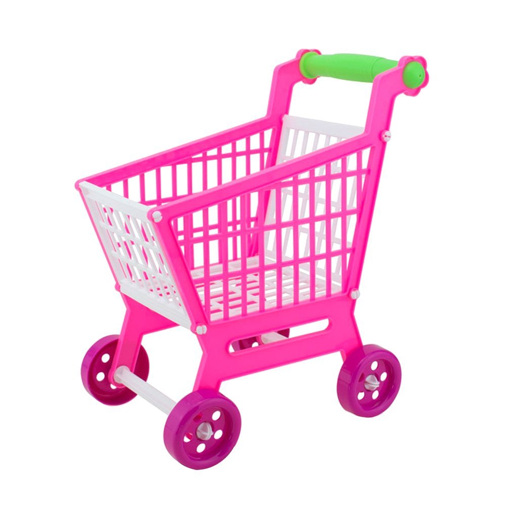 Amazon.com: Jili Online Mini Plastic Children Shopping Hand Trolley Cart for Kids Developmental Pretend Role Play Toy Playset: Toys & Games