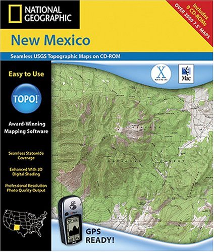 National Geographic TOPO! New Mexico Map CD-ROM (Mac)