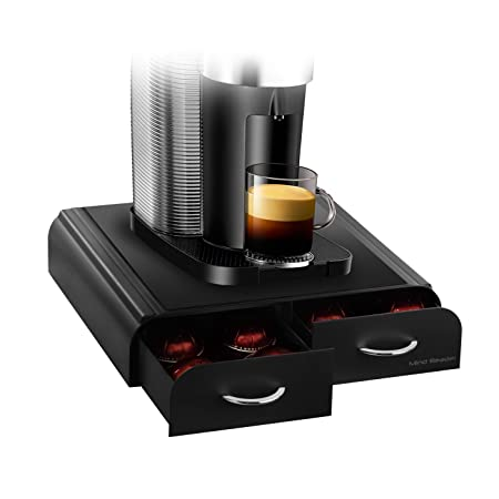 Mind Reader Anchor Caja para 32 capsulas de Tassimo, 20 capsulas Vertuoline Nespresso, 20 paquetes de Keurig Vue