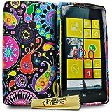Accessory Master Multi Blumen Design Silikon Schutzhülle für Nokia Lumia 520