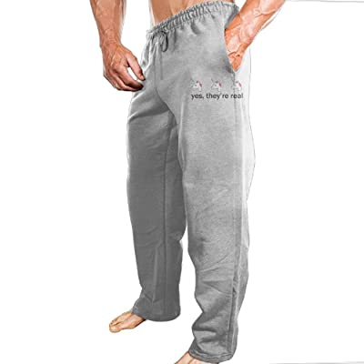Lucy Jim Yes, They're Real Mens Casual Athletics Jogger Sweatpants Ash