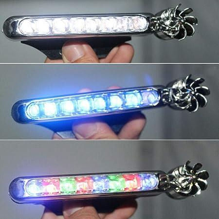 LED-Tagfahrlicht 2 Pack Zusatzscheinwerfer Vorn Keine Notwendigkeit Zu Installieren Scheinwerferdekoration Windlicht 12,3x4cm Geeignet F/ür Alle Modelle Blaues Licht