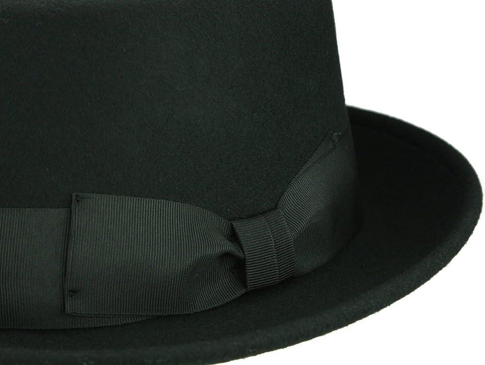 PEPINO noir chapeaux Pork Pie d/éformable Rassow