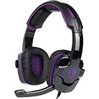 LEP Headphones Gaming Esports Headset Laptop Headset Suitable for Microphone for PS4 and PC Purple