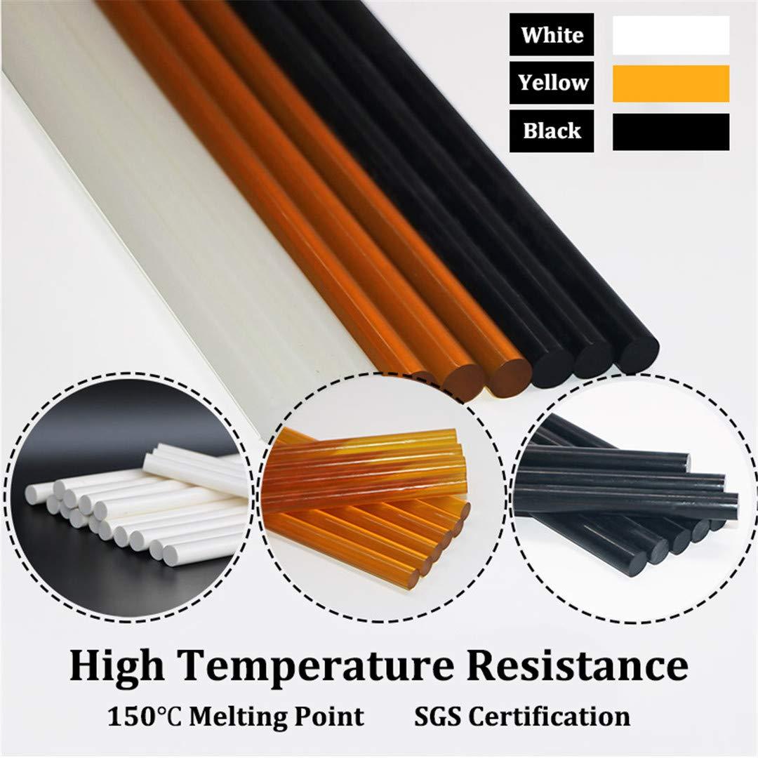 150 Degrees High Temperature Resistant Hot Melt Glue Sticks 11X300mm For Electric Hot Glue Gun Black White Pale-Yellow, 1Kg/Lot 11mm 300mm