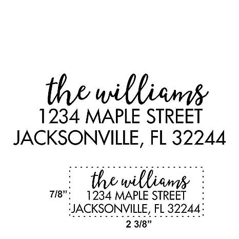 Amazon Com Custom Address Stamp Return Address Stamp
