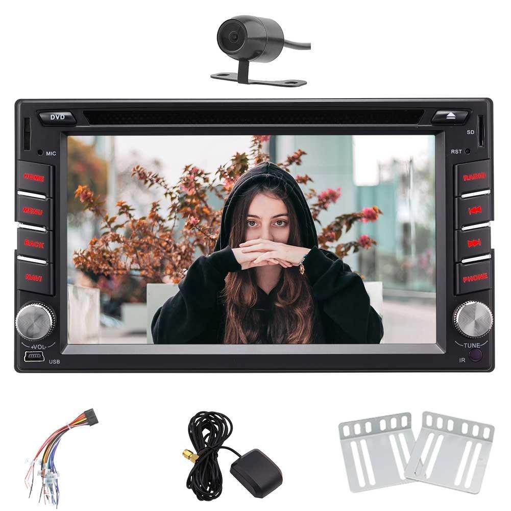 ギフト、ダッシュカーステレオヘッドユニットAutoradioサポート4G、WIFIでEincarアンドロイド7.1ダブル2 DIN 6.2インチ、OBD2、DAB、ブルートゥース、デュアルゾーンとステアリングホイールコントロール機能などのリアカメラ。あなたのiPhoneでミラーリングをalowedされます。 B07C6SYGX1