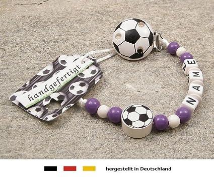 Baby Chupete Cadena con nombres, diseño de equipo de fútbol ...