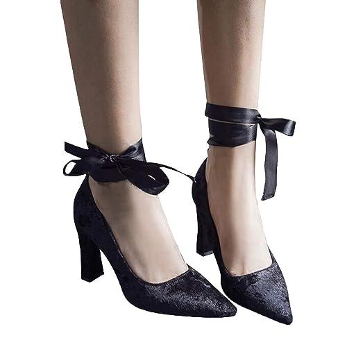 Buy Lovely-Shop Women Thick Heel Pumps