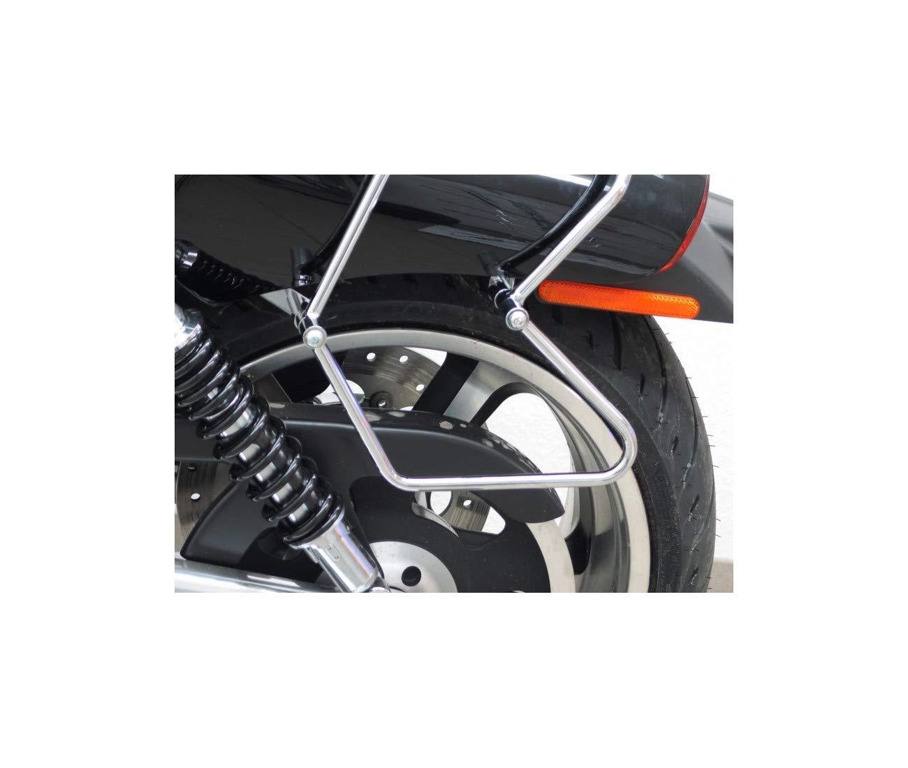 7172P Harley Davidson V-Rod MUSCLE-09//11 Kofferhalterungen f/ür Taschen aus Chrom