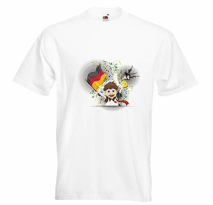 T-Shirt Camiseta Remera FÚTBOL Aficionado al fútbol Alemania 2018 Copa Mundial Alemania World Champion Rusia Rusia semifinales Cuartos de Final en Blanco: ...