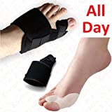 Dr.Koyama 2 Sets Rapid Bunion Pain Treatment Night Time Bunion Orthopedic Splints?? Corrector Toe Spacer Hallux Valgus Bunion Pads
