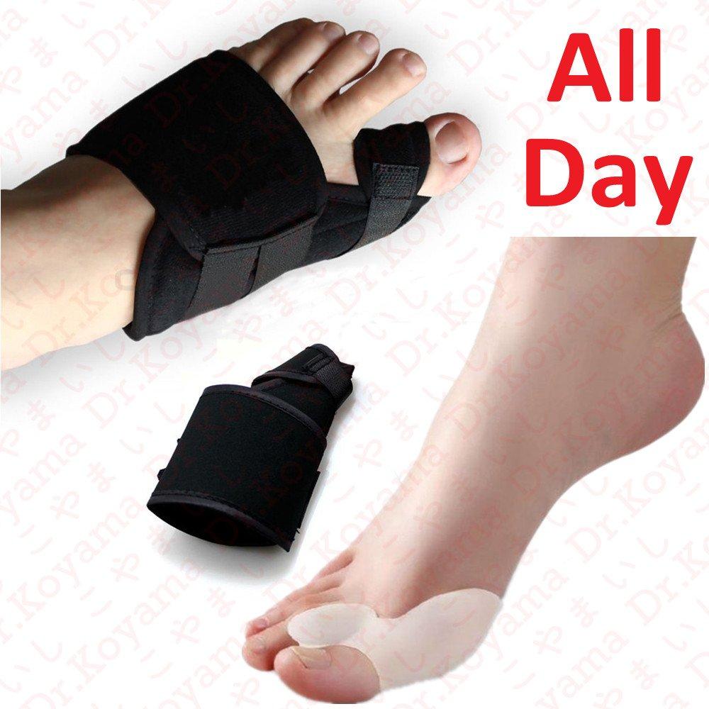 Dr.Koyama 2 Sets Rapid Bunion Pain Treatment Night Time Bunion Orthopedic Splints+Bunion Corrector Toe Spacer Hallux Valgus Bunion Pads