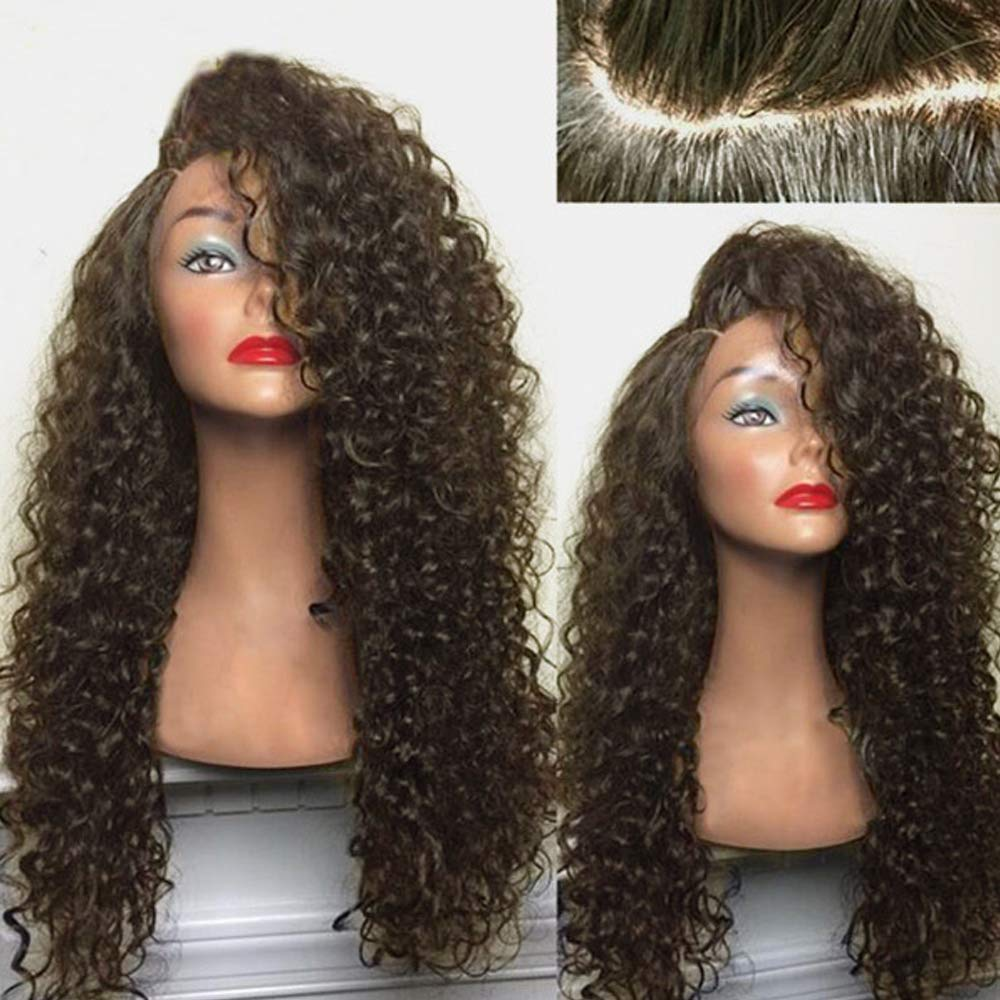 Amazon.com : BNMY Ms Small Curly Hair Side Division Wave Roll Long Hair Synthetic Lace Front Wig With Heat Resistant Fiber Hair Sets Buckle Subnet, ...