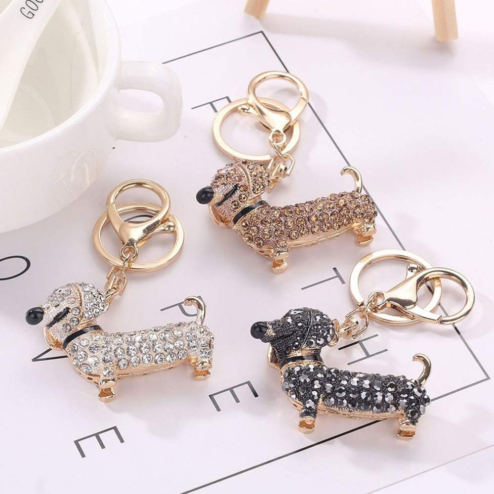 Wall of Dragon Cute Puppy Dog Charm Fashion Keychain Sparkling Crystal Unique Gift and Souvenir Hanging Keys or Automobile Pendants Car Styling by Wall of Dragon (Image #5)