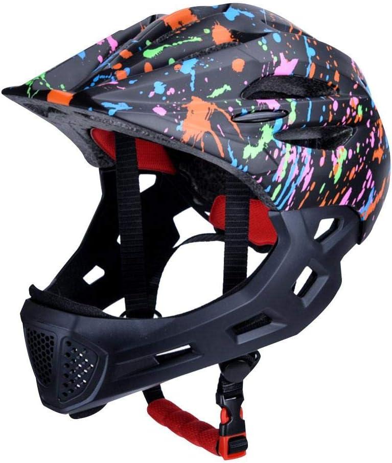 chivalrylist Casque Moto Enfant-Casque Int/égral pour Tout-Petits Et Les Jeunes 3-12 Ans Year Old Filles//gar/çons avec Feux Arri/ère pour Le Cyclisme Et Le Patinage