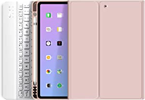 Aoub Keyboard Cases iPad Air 4 case 10.9 inches, Bluetooth Keyboard case with Pencil case, iPad Air4 10.9 Keyboard case, Ultra-Thin Keyboard case (Pink)