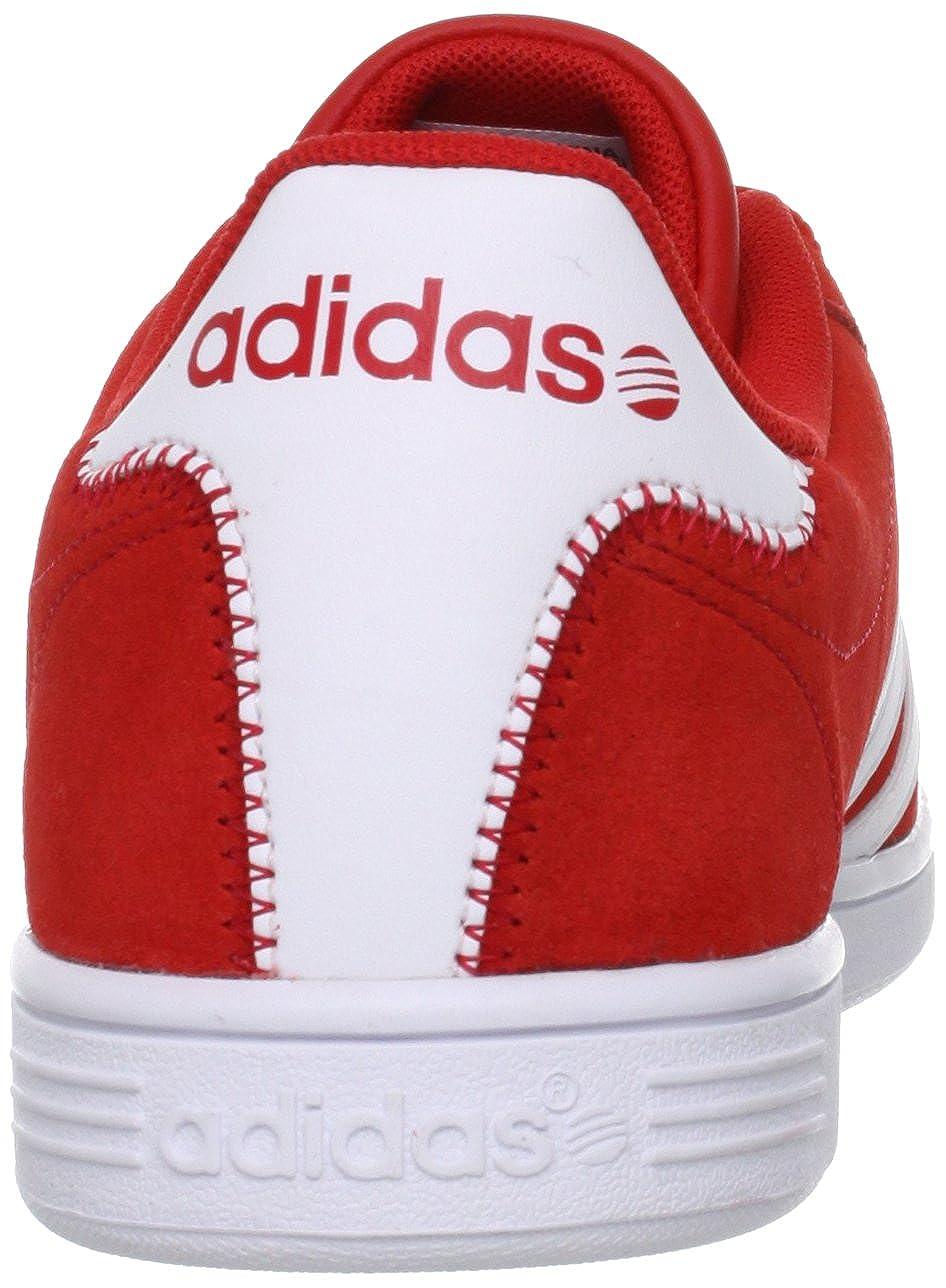 adidas vlneo court sneaker schuhe herren rot-weiss wildleder