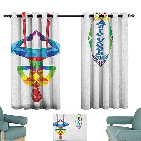 Amazon.com: ParadiseDecor Yoga, Curtains Aerial Aero Anti ...