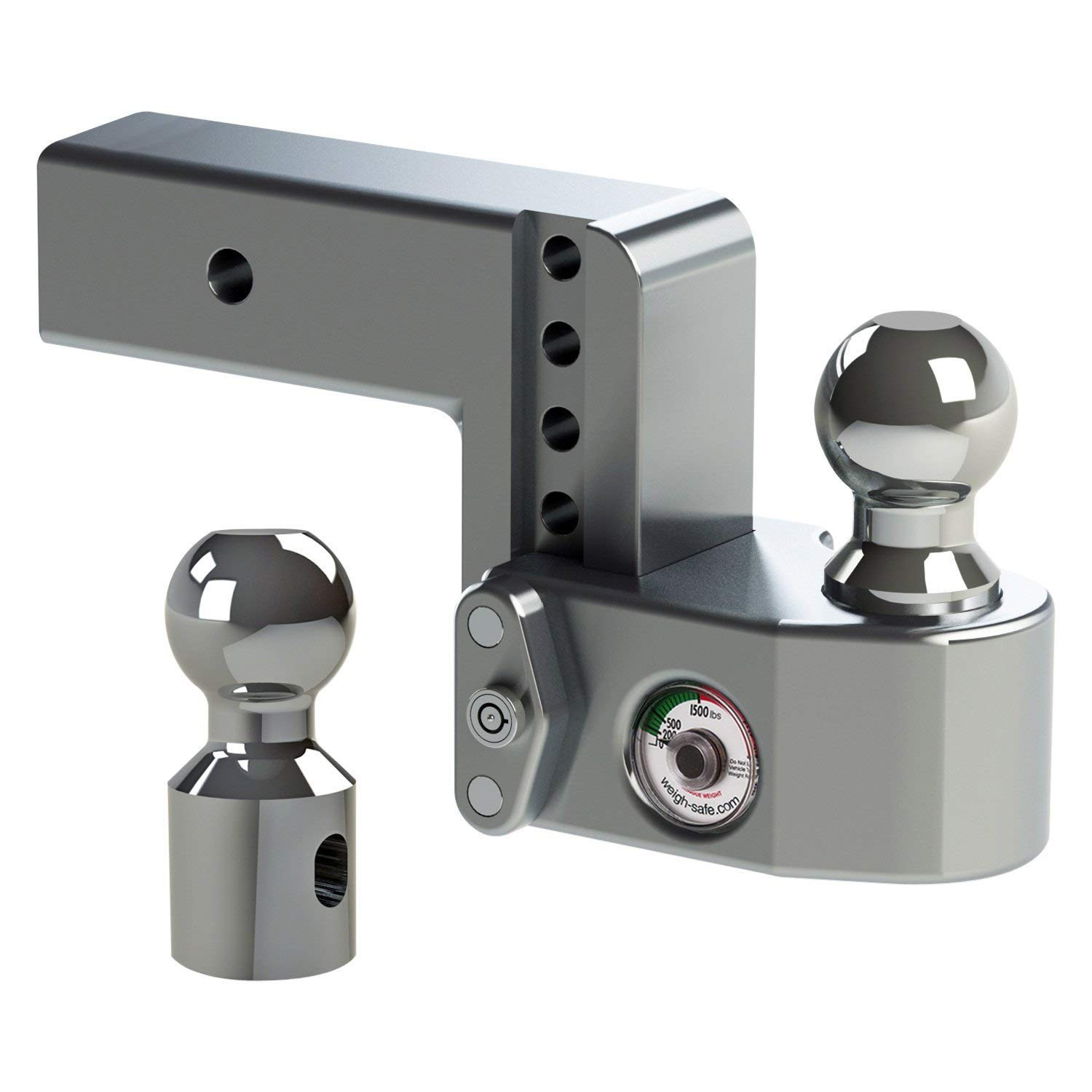 Weigh Safe WS10-2.5 Adjustable Ball Mount with 10 Drop and 2.5 Shank