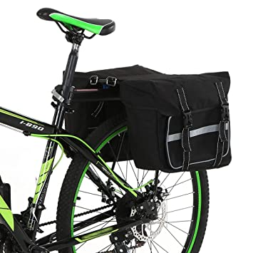 Amazon.com: Lixada Bike Back Pannier Bicycle Rear Seat Bag ...