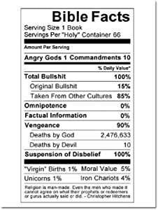 "Bible Facts Refrigerator Magnet - [3"" x 2""]"