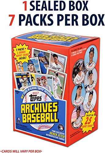 2017 Topps Archives Baseball Factory Sealed 7 Pack Box   Fanatics Authentic Certified   Baseball Wax Packs