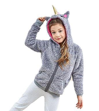 9b23c53127cdb Sweat à Capuche Unicorn - Enfant Fille Veste Blouson Anime Costume Cosplay  Unicorn Hoodie Sweatshirt Manteau