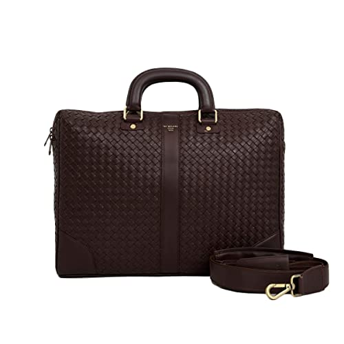 Da Milano Leather Brown Laptop Bag  Amazon.in  Shoes   Handbags 1aff15469c7d5