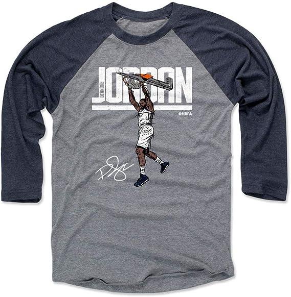Camiseta de Deandre Jordan de 500 Niveles – Camiseta de Baloncesto Dallas Raglan – Deandre Jordan Hyper, Atlético, Large, Navy/Heather Gray: Amazon.es: Deportes y aire libre