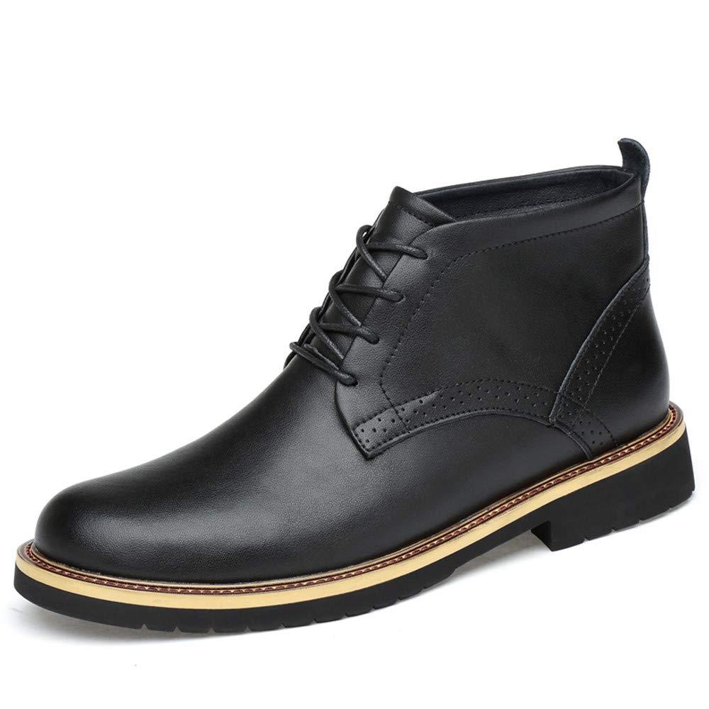 Apragaz Klassischer Chelsea-Stiefel für Herren, Schnürstiefeletten, Lässige Outdoor-Arbeitsschuhe mit Reißverschluss (Warm Samt optional)