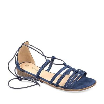 ff4d32c28855 Nu-Pieds BLEU MERRY SCOTT Femme Chaussea  Amazon.fr  Chaussures et Sacs