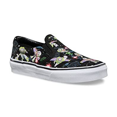 black slip on vans kids