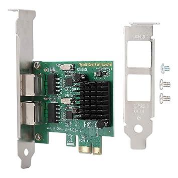 Tarjeta de Red PCI-E, 10/100 / 1000Mbps RJ-45 * 2 Tarjeta de ...