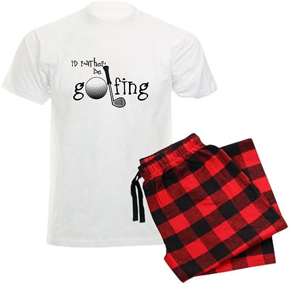 CafePress Id Rather be Golfing Mens Dark Pajama Set