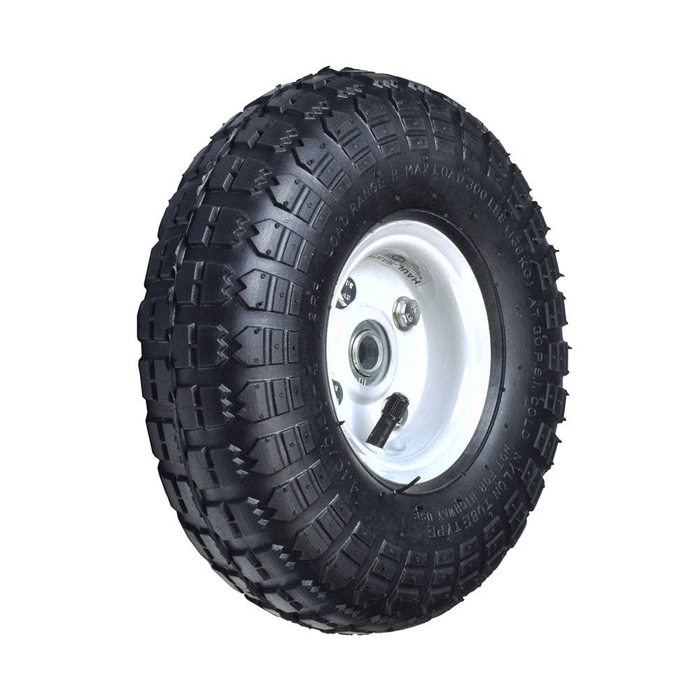 AlveyTech 10'' Pneumatic Tire Utility Wheel Assembly for Dollies, Wagons, Carts