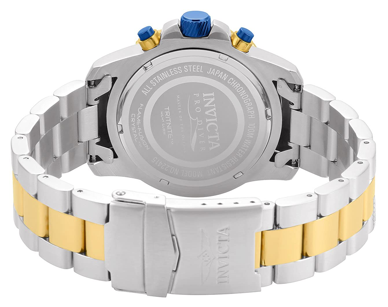 Amazon.com: Invicta Mens Pro Diver Quartz Watch with Stainless-Steel Strap, Two Tone, 22 (Model: 22415: Invicta: Watches