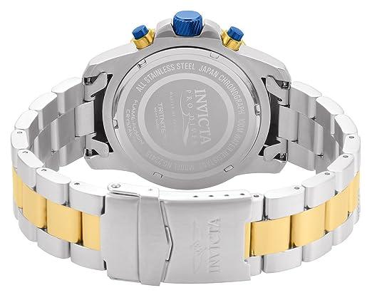 Amazon.com: Invicta Mens Pro Diver Quartz Watch with Stainless-Steel Strap, Two Tone, 22 (Model: 22415: Invicta: Watches